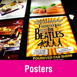 poster printing with beatles poster