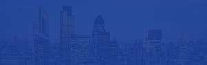 London skyline with a blue overlay