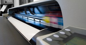 Digital printer busy printing