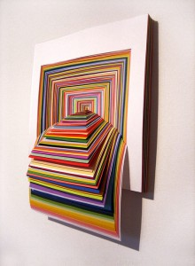 3D colourful square art