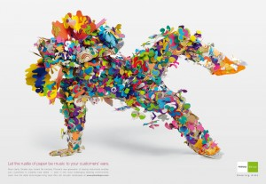 Artwork: rustle-of-paper colourful man dancing