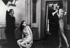 Still scene from an old black and white movie