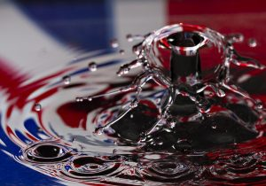 Union Jack reflection in water