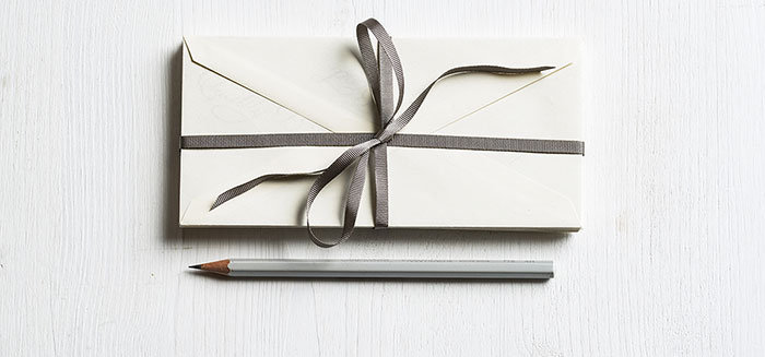 envelope and pencil
